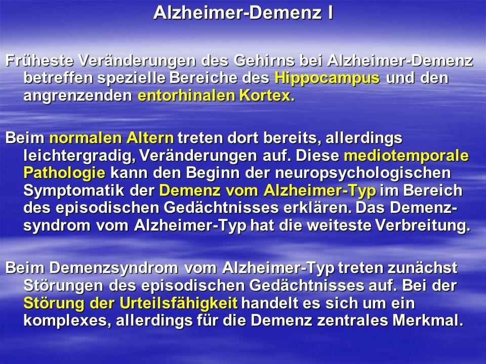Alzheimer-Demenz I