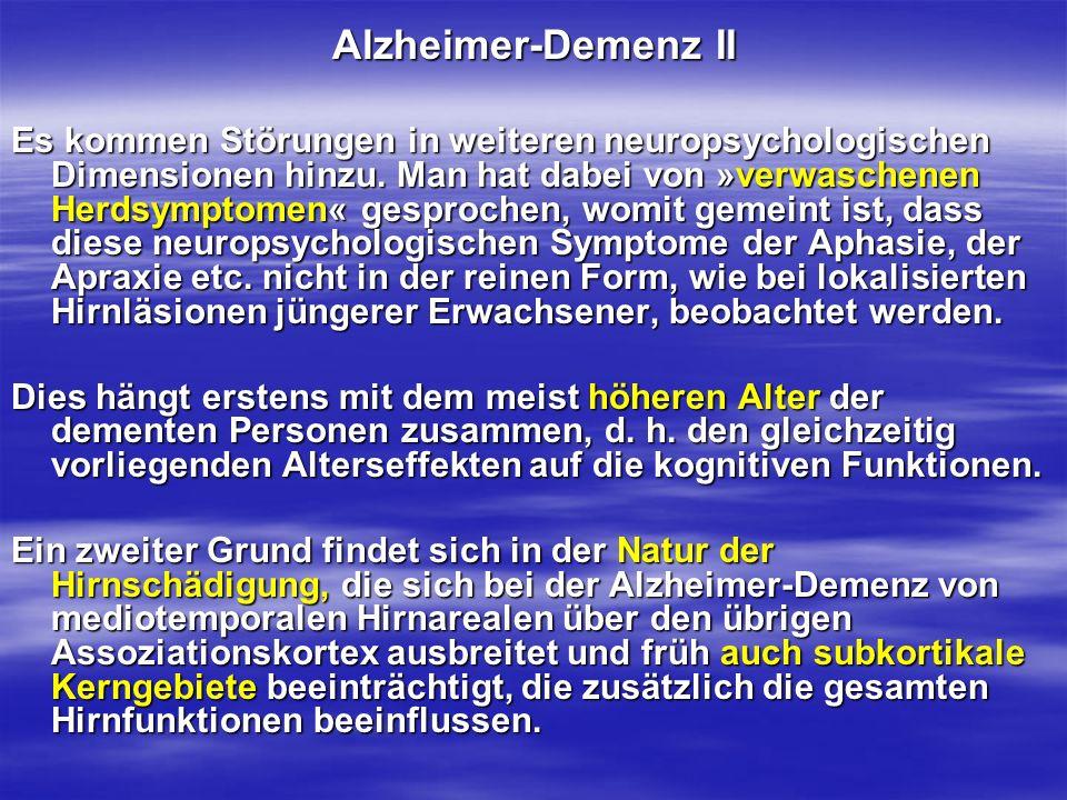 Alzheimer-Demenz II
