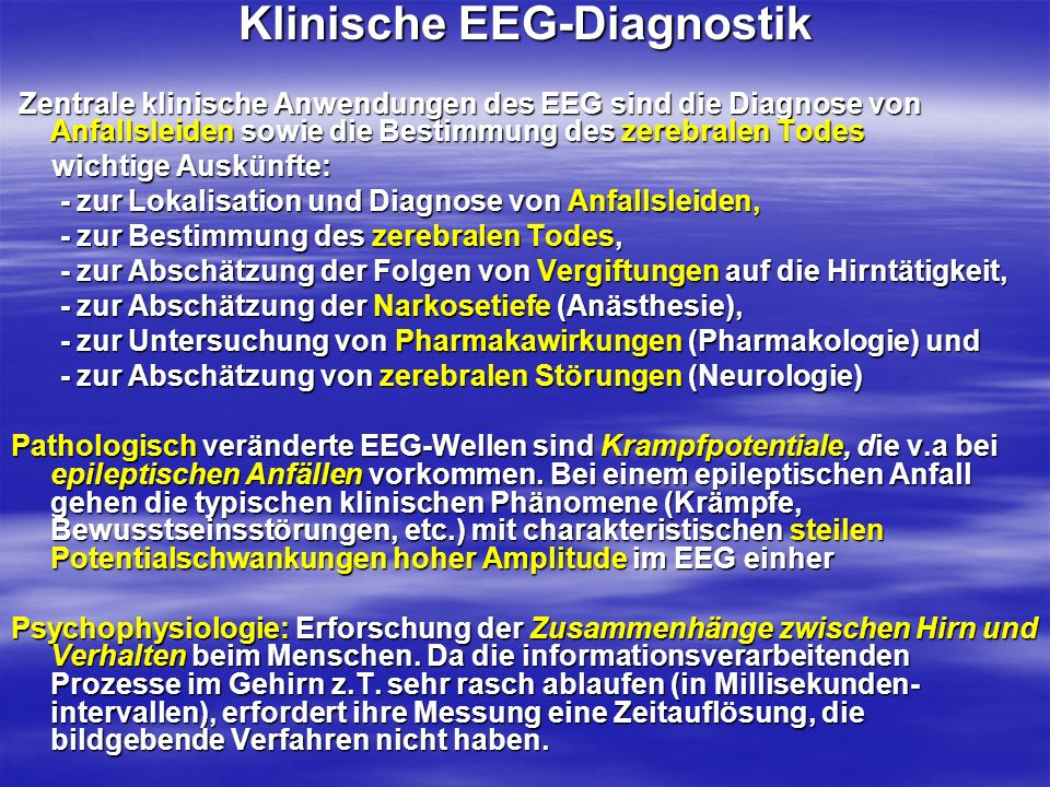 Klinische EEG-Diagnostik