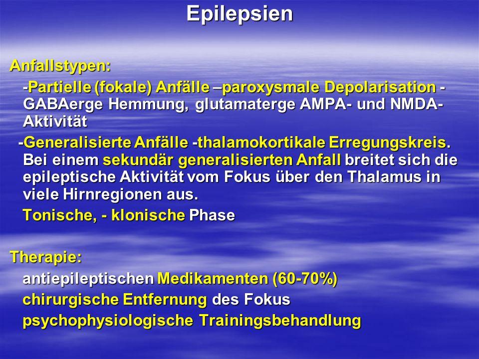 Epilepsien Anfallstypen: