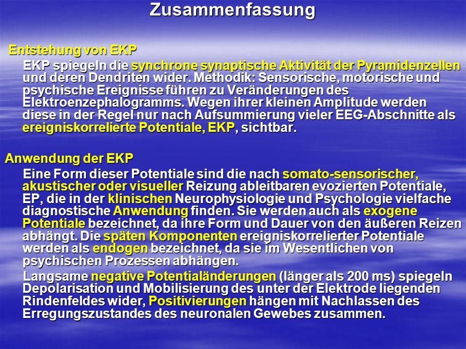 Zusammenfassung Entstehung von EKP