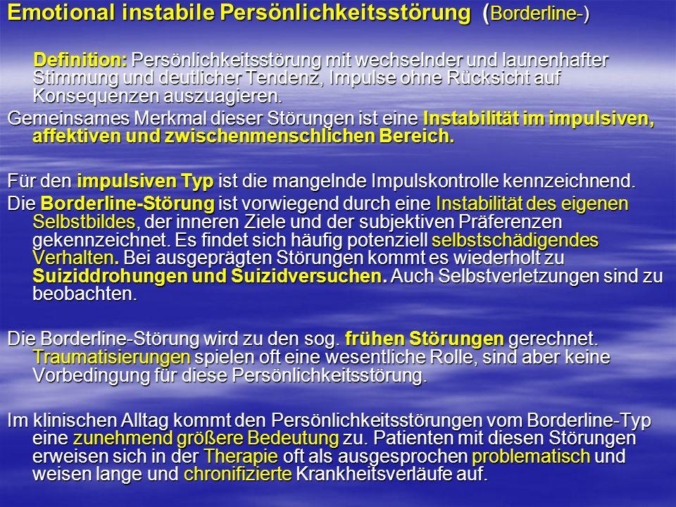 Emotional instabile Persönlichkeitsstörung (Borderline-)