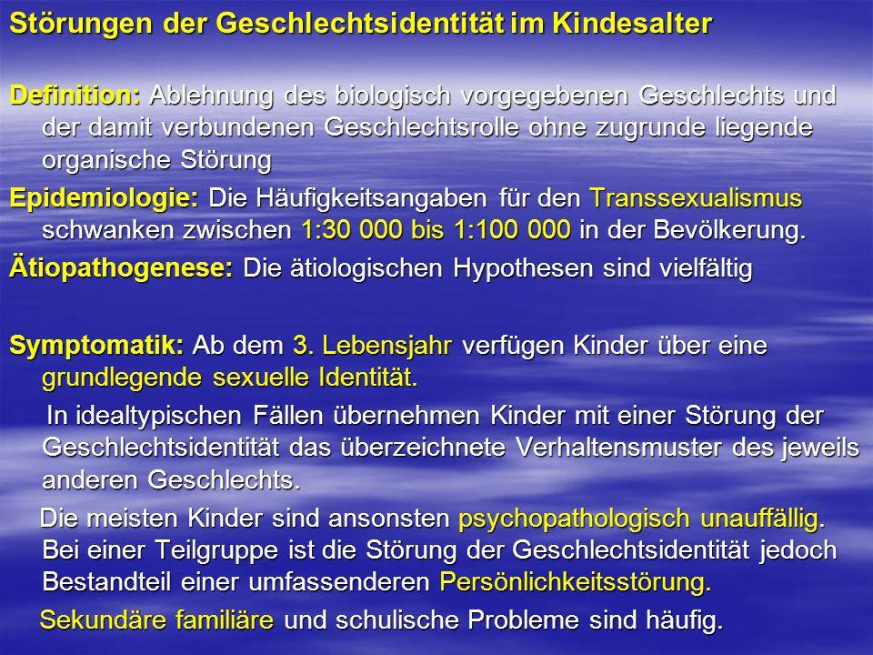 Störungen der Geschlechtsidentität im Kindesalter