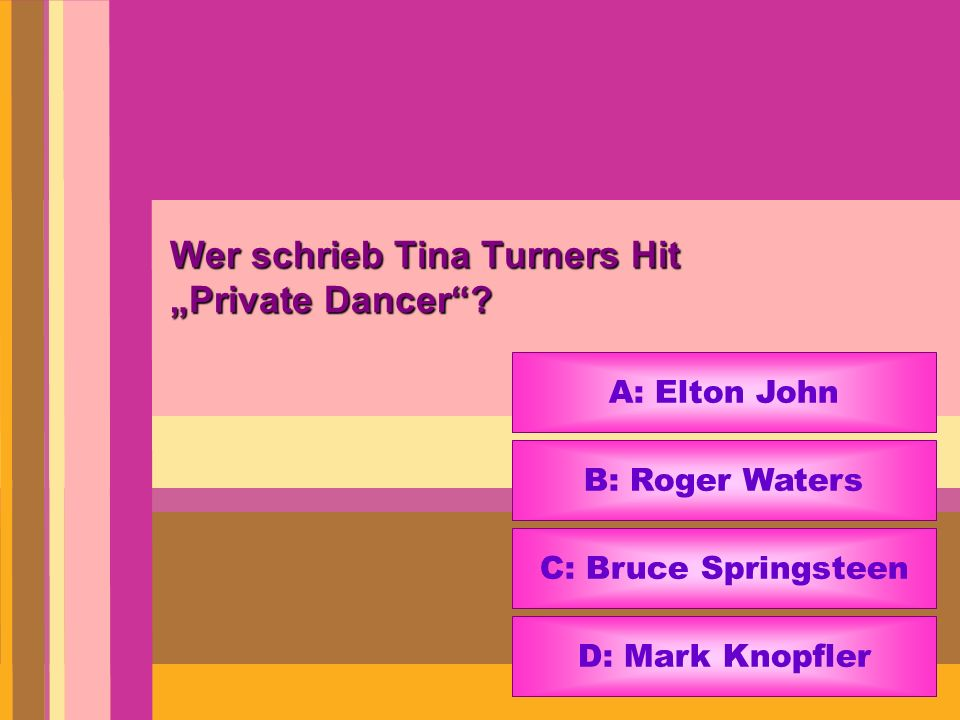 "Wer schrieb Tina Turners Hit ""Private Dancer"