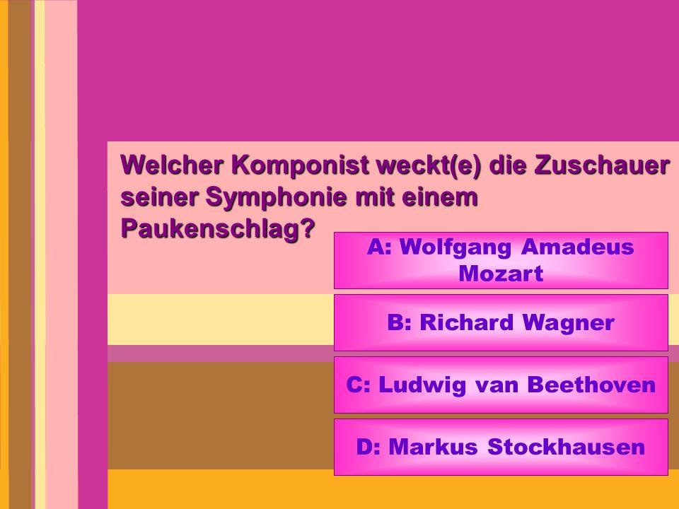 Welcher Komponist weckt(e) die Zuschauer seiner Symphonie mit einem Paukenschlag