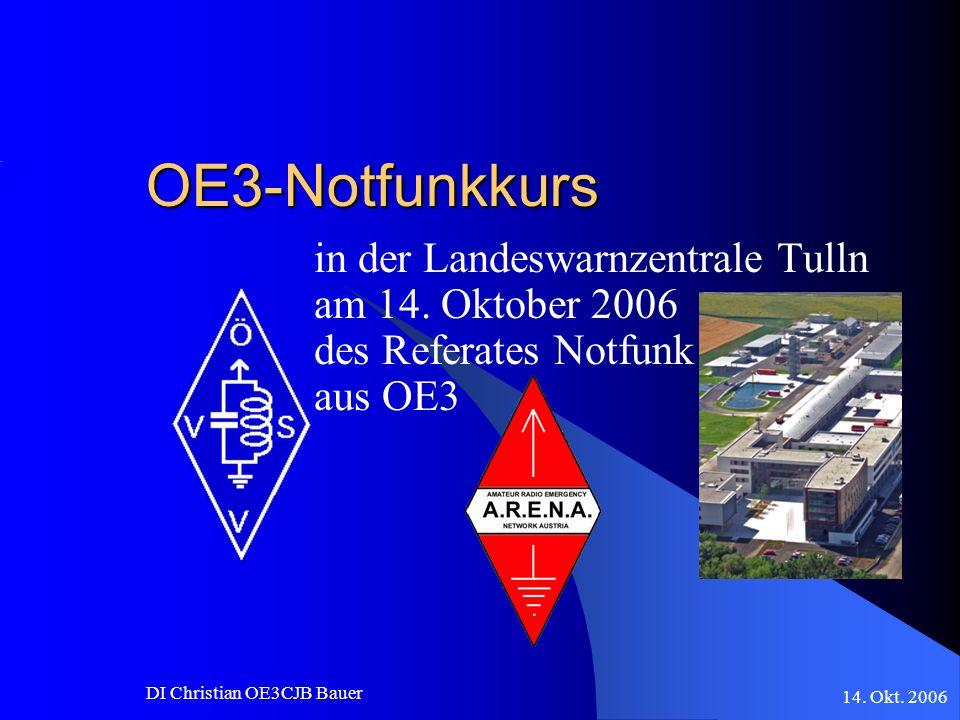 OE3-Notfunkkurs in der Landeswarnzentrale Tulln am 14. Oktober 2006