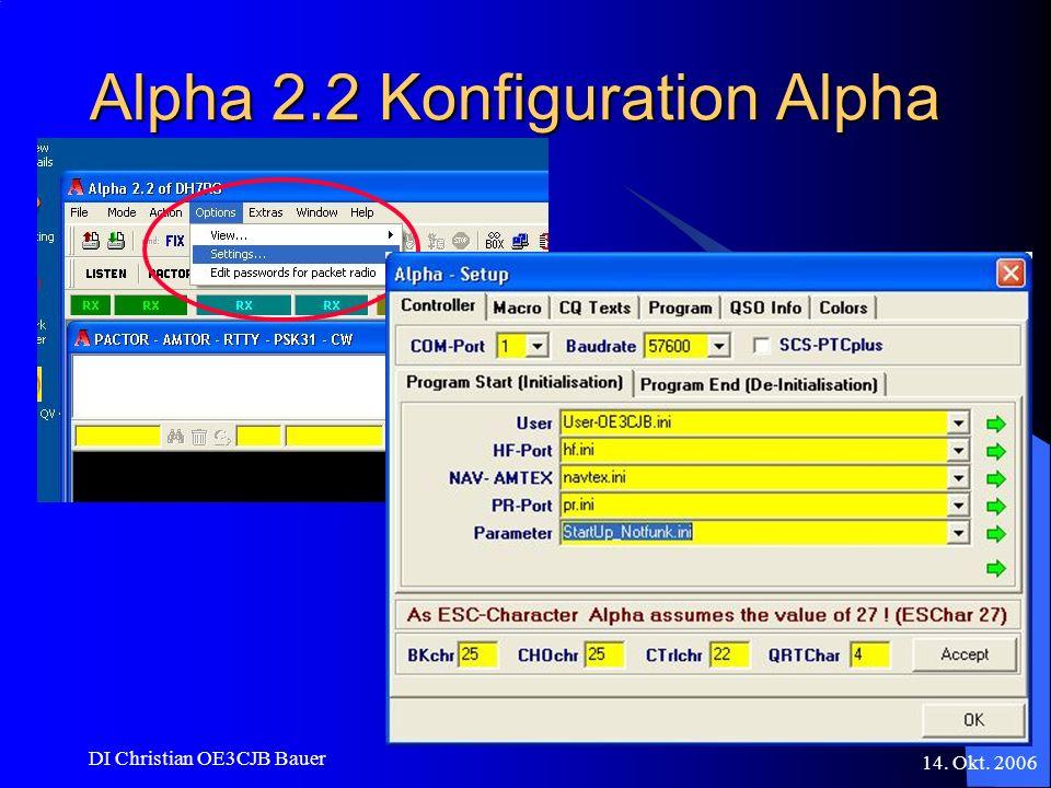 Alpha 2.2 Konfiguration Alpha