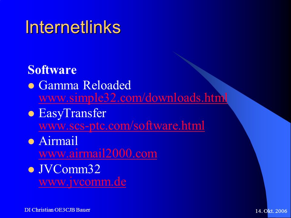 Internetlinks Software Gamma Reloaded www.simple32.com/downloads.html