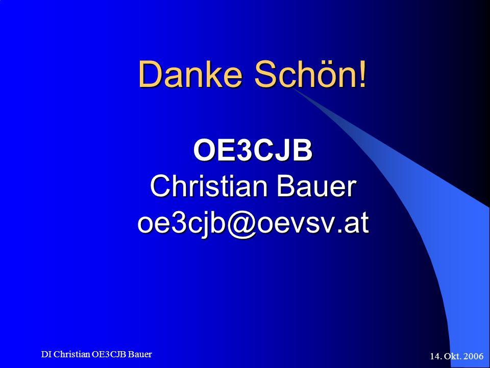 Danke Schön! OE3CJB Christian Bauer oe3cjb@oevsv.at