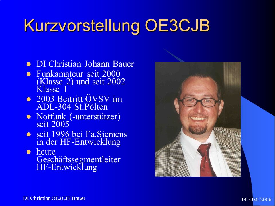 Kurzvorstellung OE3CJB