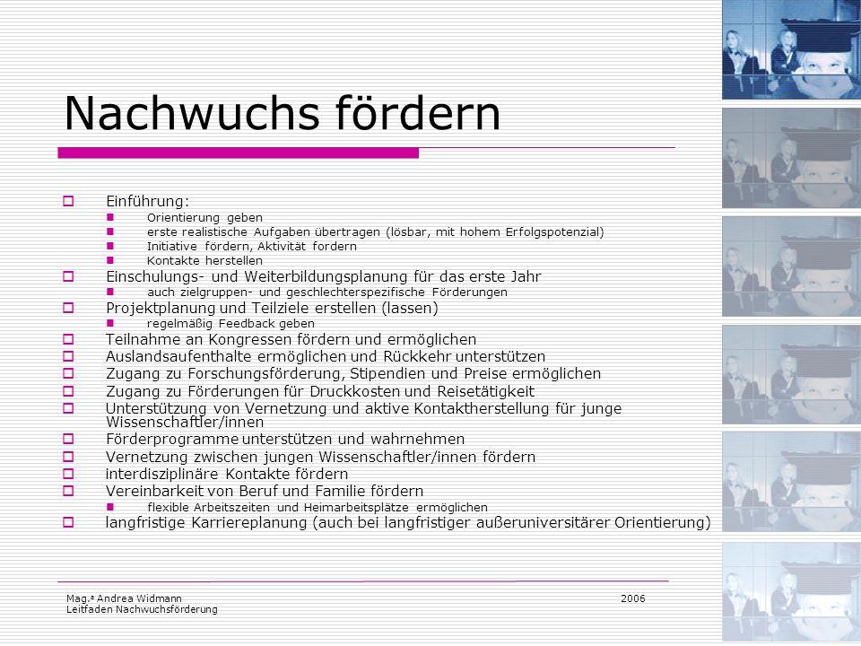 Nachwuchs fördern Einführung: