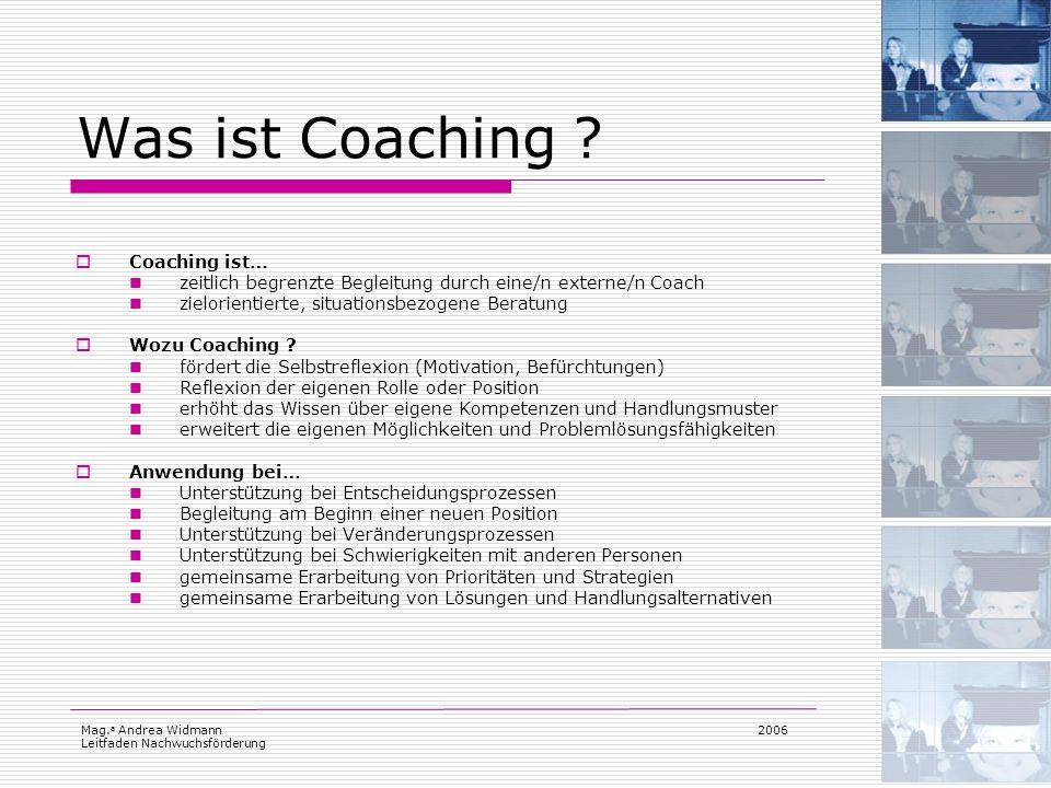 Was ist Coaching Coaching ist…