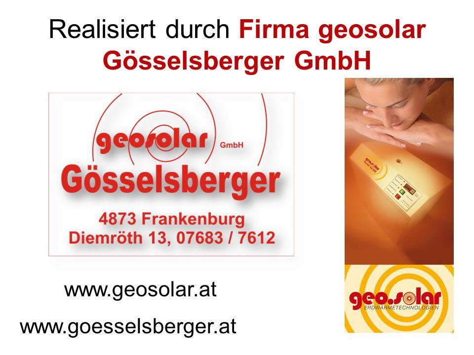 Realisiert durch Firma geosolar Gösselsberger GmbH