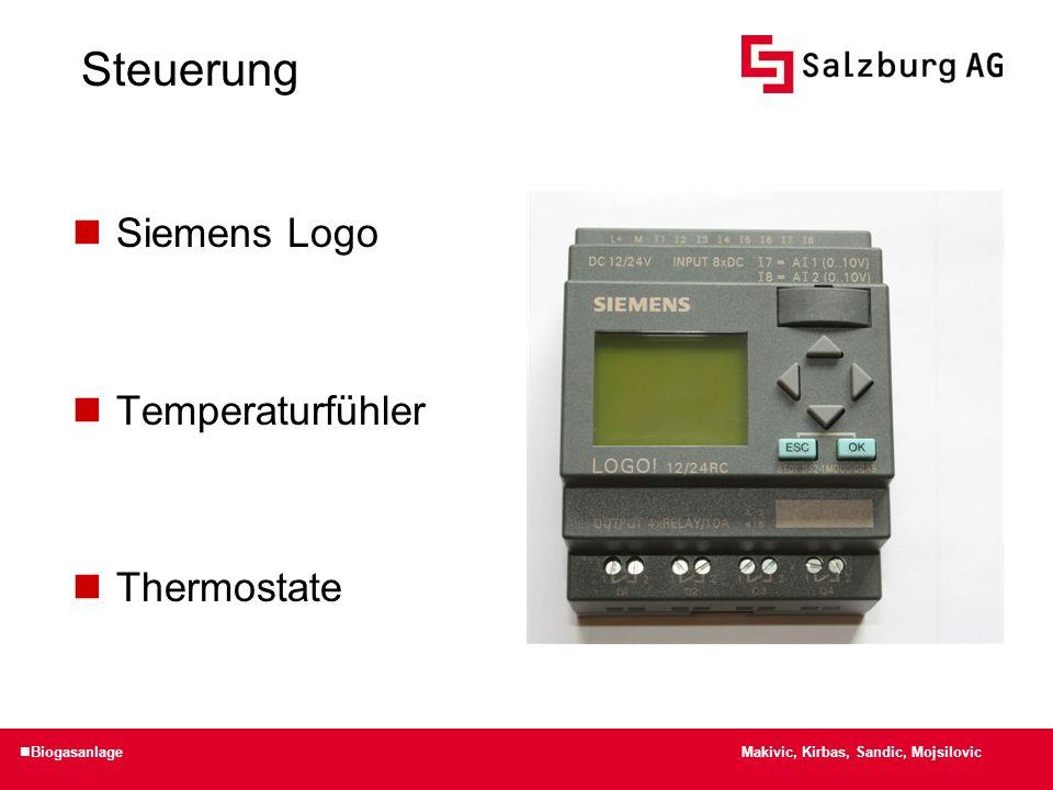 Steuerung Siemens Logo Temperaturfühler Thermostate Biogasanlage