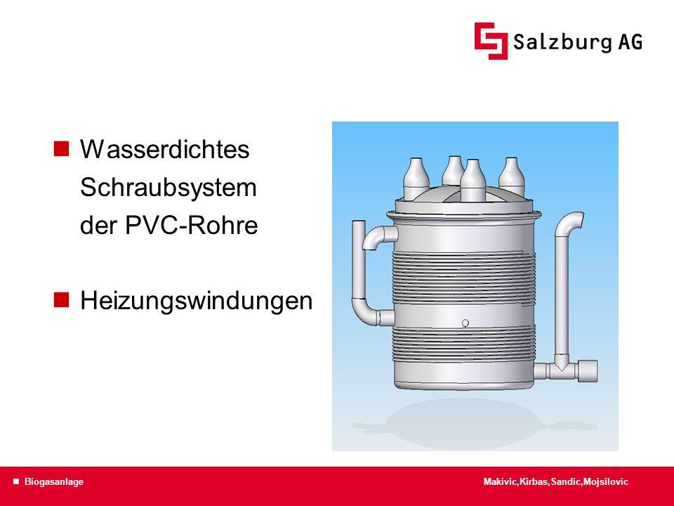 Wasserdichtes Schraubsystem der PVC-Rohre Heizungswindungen