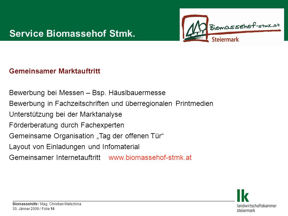 Service Biomassehof Stmk.