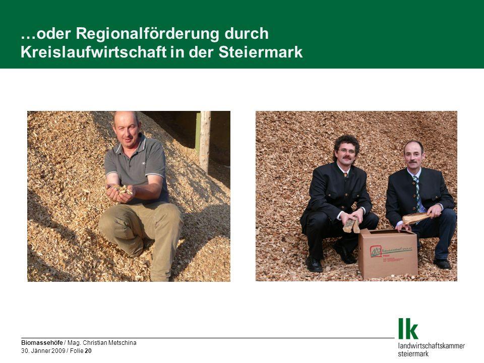 …oder Regionalförderung durch Kreislaufwirtschaft in der Steiermark
