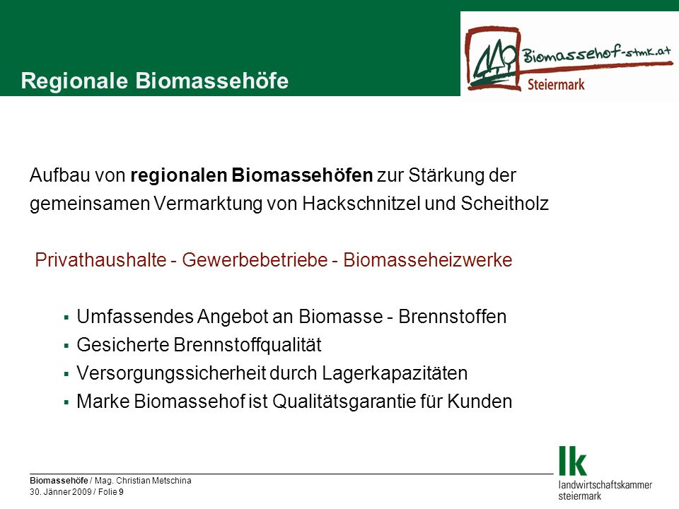 Regionale Biomassehöfe