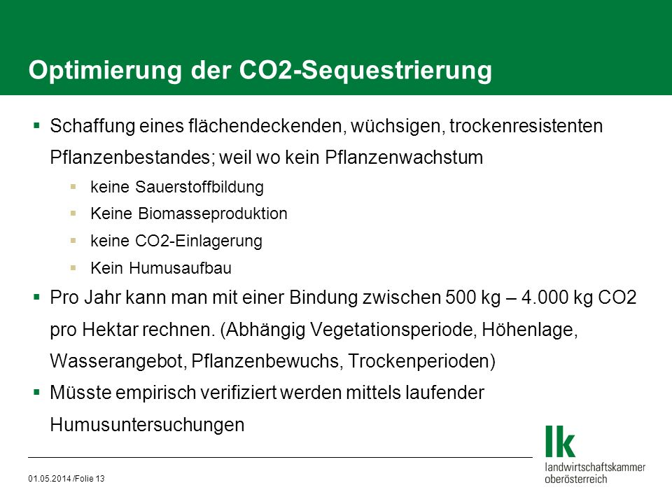 Optimierung der CO2-Sequestrierung
