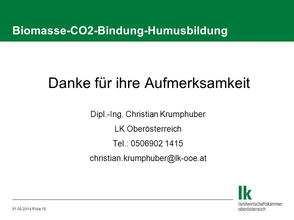Biomasse-CO2-Bindung-Humusbildung