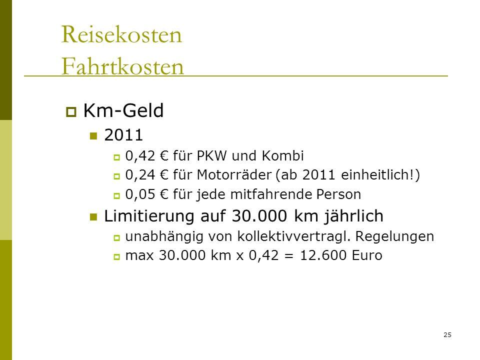Reisekosten Fahrtkosten