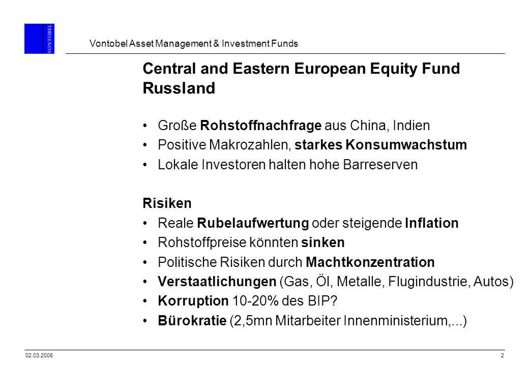 Central and Eastern European Equity Fund Russland