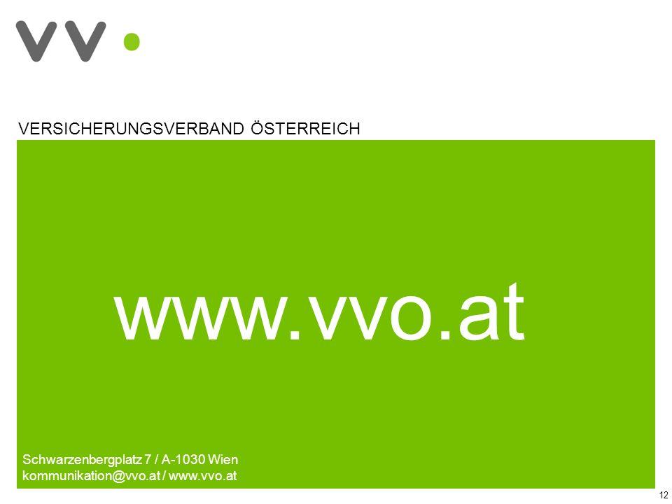 www.vvo.at VERSICHERUNGSVERBAND ÖSTERREICH