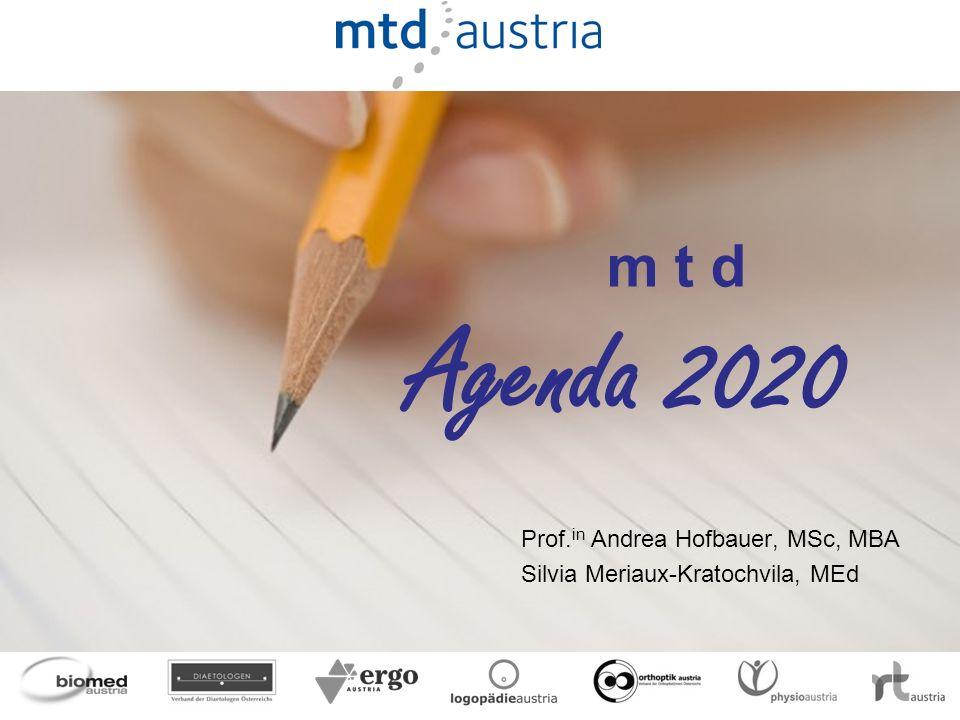 Prof.in Andrea Hofbauer, MSc, MBA Silvia Meriaux-Kratochvila, MEd