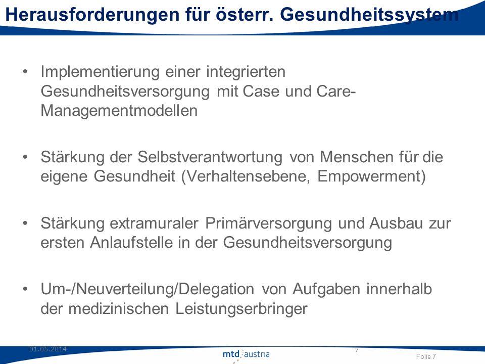 Herausforderungen für österr. Gesundheitssystem