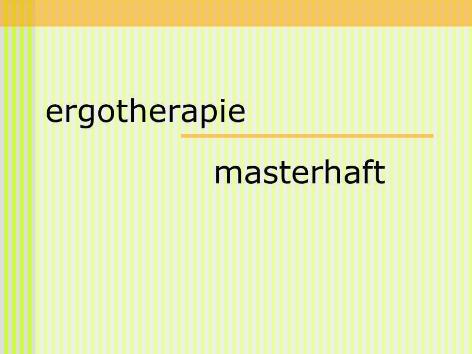 ergotherapie masterhaft