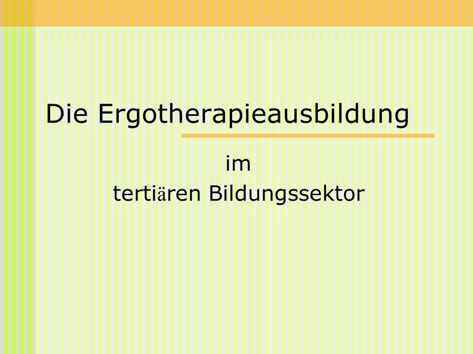 Die Ergotherapieausbildung