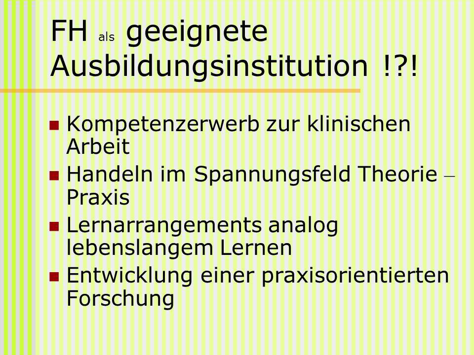 FH als geeignete Ausbildungsinstitution ! !