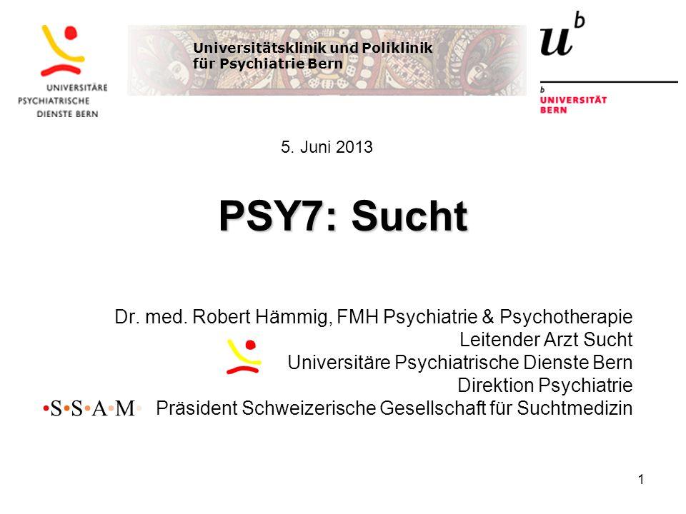Universitätsklinik und Poliklinik für Psychiatrie Bern