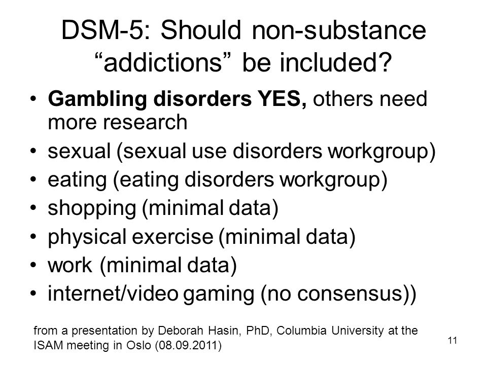 DSM-5: Should non-substance addictions be included