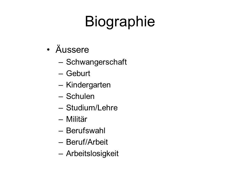 Biographie Äussere Schwangerschaft Geburt Kindergarten Schulen