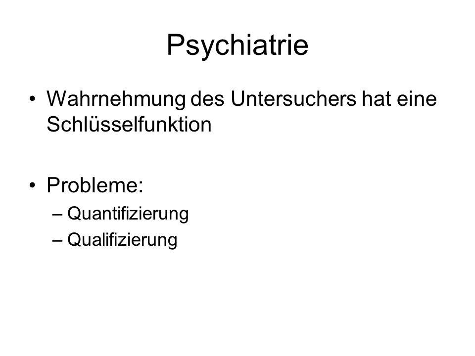 Psychiatrie Wahrnehmung des Untersuchers hat eine Schlüsselfunktion