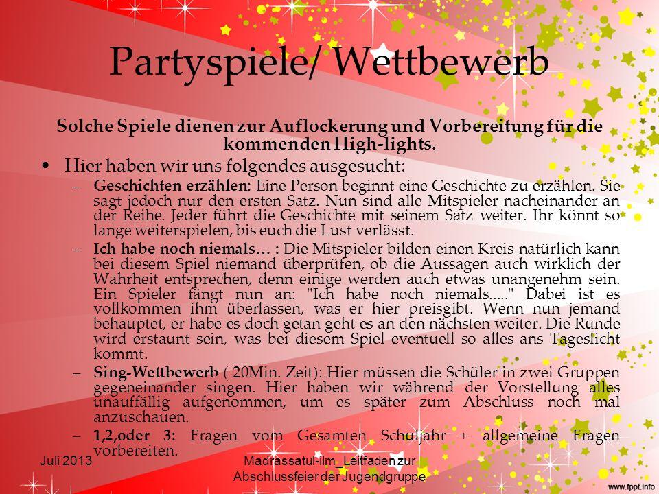 Partyspiele/ Wettbewerb
