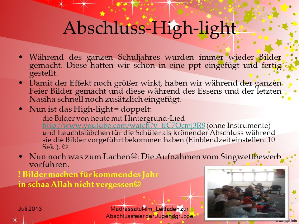 Abschluss-High-light