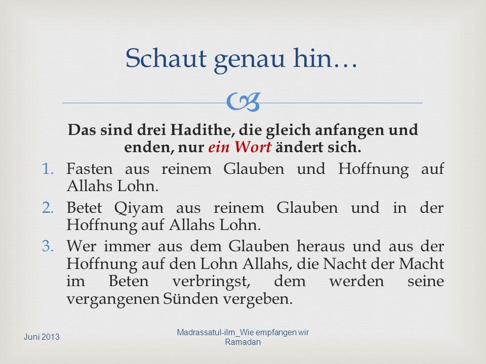Madrassatul-ilm_Wie empfangen wir Ramadan