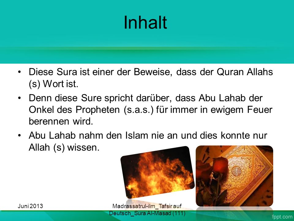 Madrassatrul-ilm_Tafsir auf Deutsch_Sura Al-Masad (111)