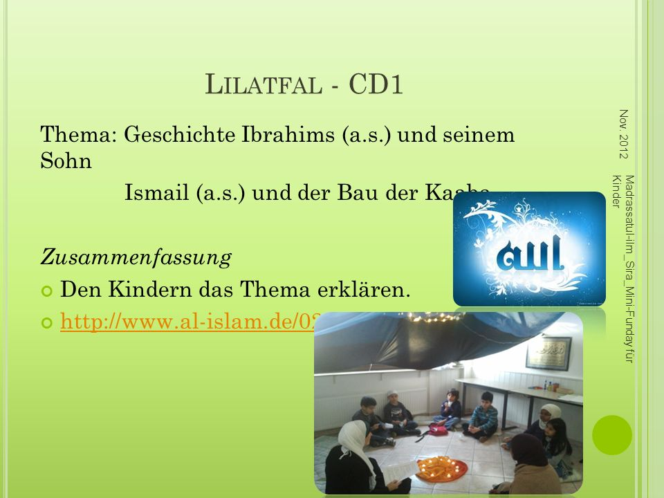 Lilatfal - CD1 Thema: Geschichte Ibrahims (a.s.) und seinem Sohn