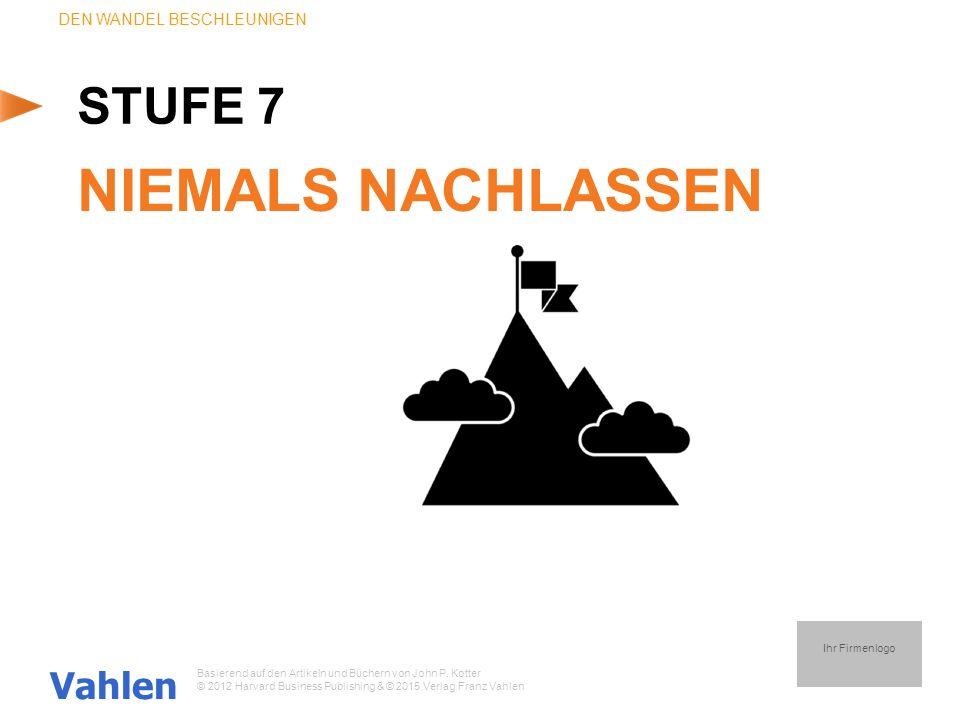 NIEMALS NACHLASSEN STUFE 7