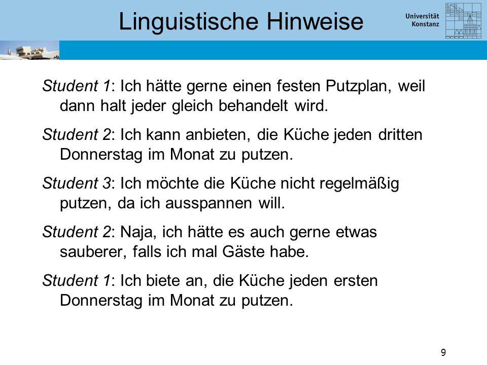 Linguistische Hinweise