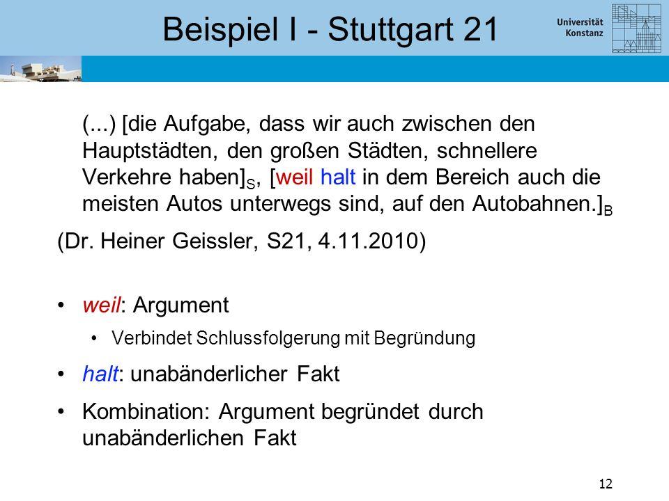 Beispiel II - Stuttgart 21