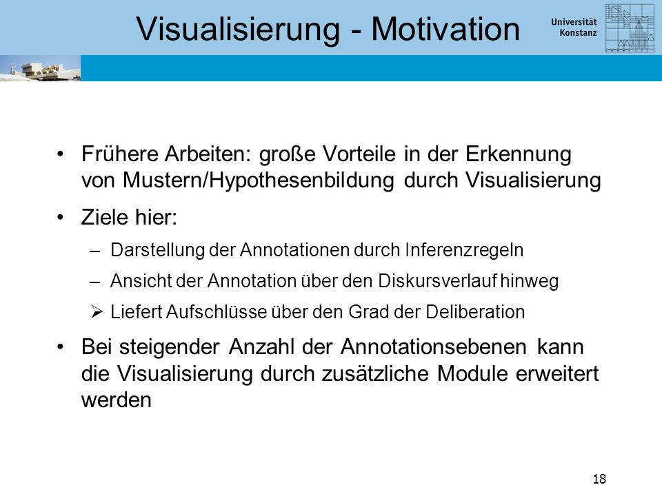 Visualisierung Entwicklung eines Werkzeugs zur Visualisierung