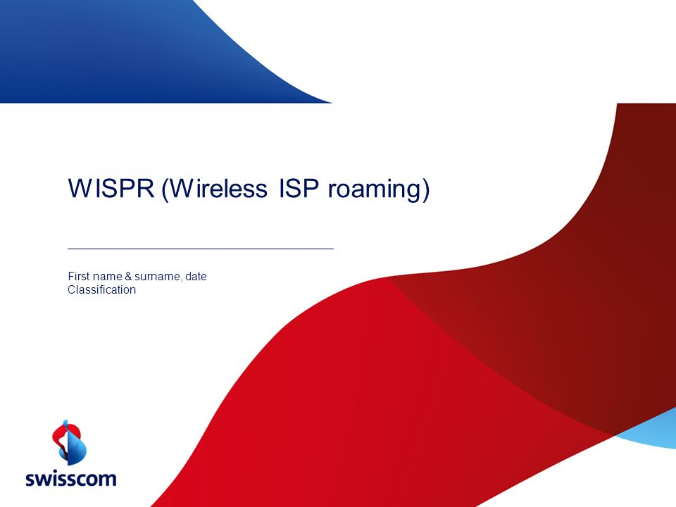 WISPR (Wireless ISP roaming)