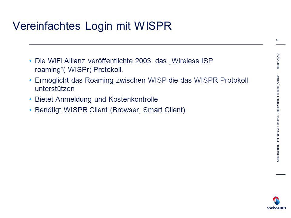 Vereinfachtes Login mit WISPR
