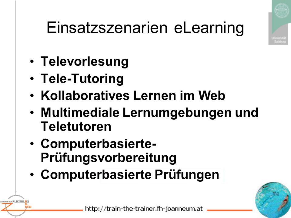 Einsatzszenarien eLearning