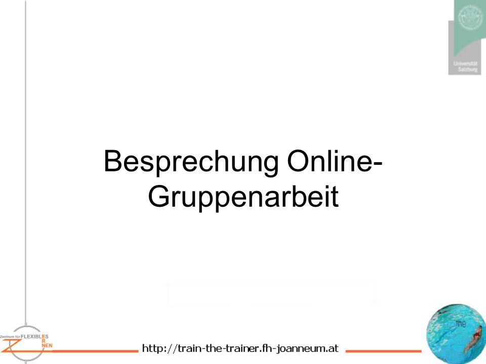 Besprechung Online-Gruppenarbeit