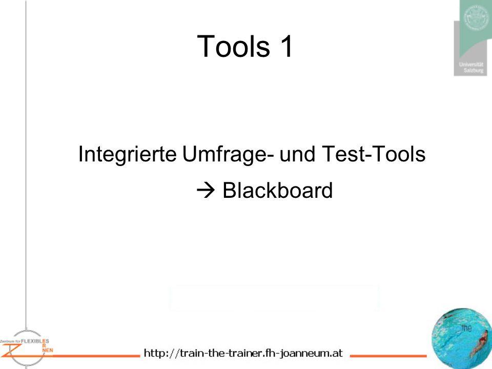 Integrierte Umfrage- und Test-Tools  Blackboard